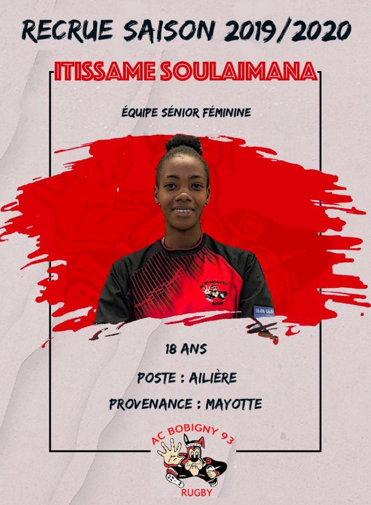 Itissame Soulaïmana, Despérados Rugby Club M'tsapéré puis AC Bobigny 93
